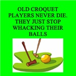 croquet player gifts t-shirts