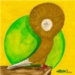 Yellow Jacobin Pigeon