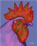 Vermillion/Magenta Rooster