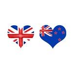 Union Jack Kiwi Flag Hearts