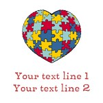 Personalized Autism Heart Shirts