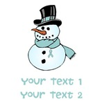 Personalized Prostate Cancer Snowman Shirts