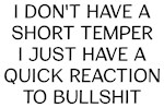 Short Temper Funny Saying