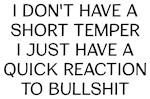Short Temper Funny Saying