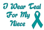 Ovarian Cancer Support Niece T-shirts