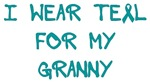 I Wear Teal For My Granny Shirts