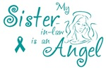 Ovarian Cancer Angel Sister-in-law T-shirts
