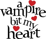 A Vampire Bit My Heart T Shirt