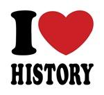 I Love History Tee Shirts