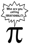 Who Are You Calling Irrational Number Pi Shirts