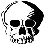 Halloween Art Deco Skull T-Shirts & Gifts
