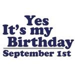 September 1st Birthday T-Shirts & Gifts