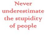 Never Underestimate Stupidity