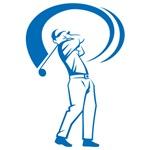 Blue Golf Swing