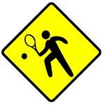 Tennis Player Crossing