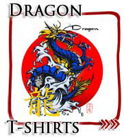 Blue Japanese Dragon, Japanese T-shirts