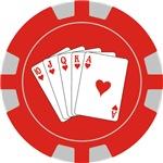 Ladies Royal Flush Poker Chip