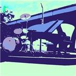 Blue Pop Art Band