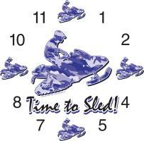 Snowmobile Clocks
