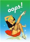 OOPS Christmas Pinup Girl