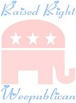 Weepublican Pink with Blue
