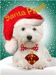 Westie Santa Paws