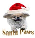 Pekingese Santa Paws