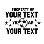 Personalized Property of Soccer Jersey