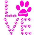 DOG LOVER PERSONALIZED PINK