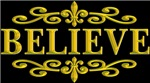 BELIEVE NEW ORLEANS GOLD
