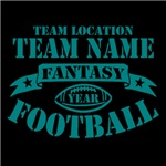 Personalized Fantasy Football TEAL
