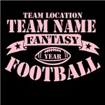 Personalized Fantasy Football Pink