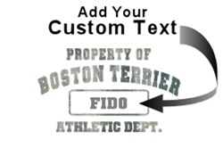Personalized Property of Boston Terrier