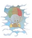 Elephant in an air balloon