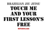 Touch me & your first lesson's free - BJJ shirts