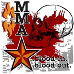 Blood in, blood out MMA teeshirts