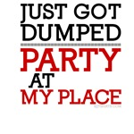 Just Got Dumped - Party at My Place funny shirts