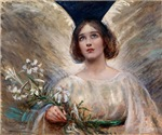 Angel with Lillies