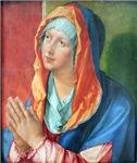 Vintage Painting of Lady Praying