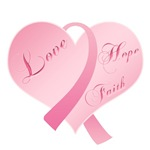 Pink Ribbon Heart