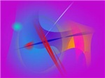 Purple Pink Abstract Space with Red Impact