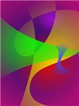 Sharp Contrast Vivid Color Abstract