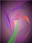 Purple Gray Gentle Abstract Design