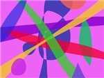 Crossing Lines Primitive Abstract Art