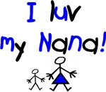 I luv my Nana (blue)