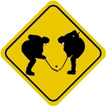 Hockey Crossing Sign
