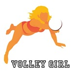 Volley Girl Volleyball