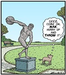 Dog and Discus Thrower