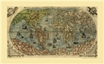 1565 World Map by Paolo Forlani