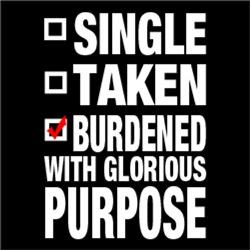 Relationship Status: Burdened With Glorious Purpos